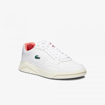 Men's Game Advance Luxe Leather and Suede Sneakers White & Pink • B53 Boutique 41SMA0064