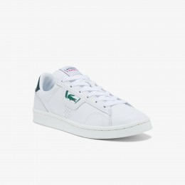 Men's Masters Classic Leather Sneakers White & Dark Green • 1R5 Fit 41SMA0014
