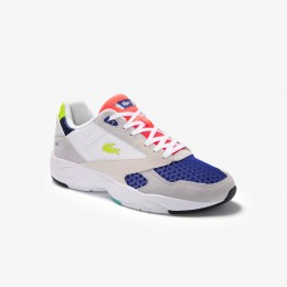 Men's Storm 96 LO Textile Synthetic and Suede Trainers Light Grey & Light Green • LG1 Sale 40SMA0046