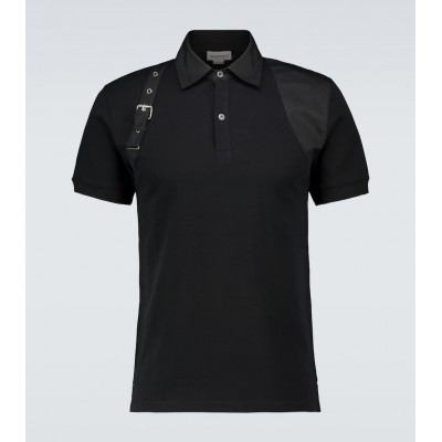 Alexander McQueen Men Polo shirts on clearance - Harness short-sleeved polo shirt 4HLR51820
