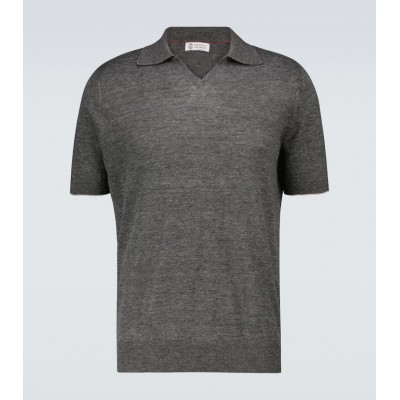 Brunello Cucinelli Men Polo shirts Clearance - Fine knitted polo shirt 6IAWP2440