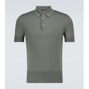 Tom Ford Men Polo shirts new in - Short-sleeved cotton polo shirt R16G83450