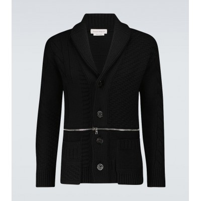 Alexander McQueen Men Cardigans On Line - Wool knitted cardigan ORXEQ9247