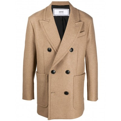 AMI Paris Women's double-breasted short coat For Sale LEEN584