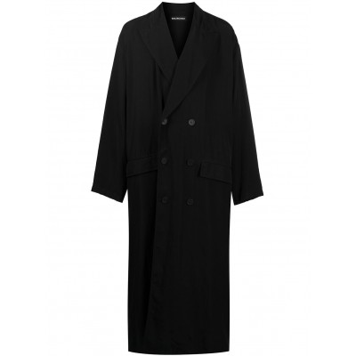 Balenciaga Womens double-breasted fluid coat The Best Brand TKRD905