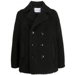 STAND STUDIO Women's double breasted faux shearling coat Or Sale Near Me UIYK319