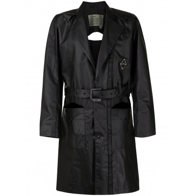 A-COLD-WALL* Girl's logo-patch belted trench coat Or Sale Near Me LGIL542