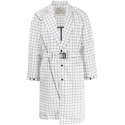 A-COLD-WALL* Women Grid belted trench coat Collection TAFZ942
