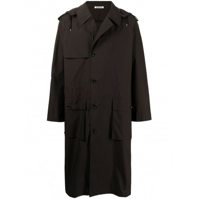 Auralee Women hooded single-breasted trench coat online shopping PDEO767