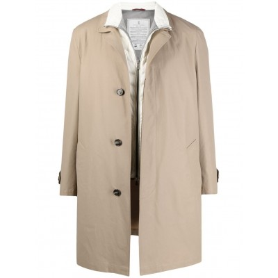 Brunello Cucinelli Girl's layered trench coat online shopping JUTY356