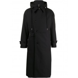 SONGZIO Young Women's hooded detachable fold trench coat hot topic DYCS283