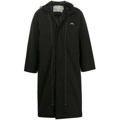A-COLD-WALL* Women's logo printed long raincoat UIBY843
