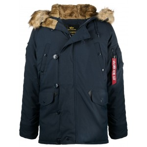 Alpha Industries Girls trimmed-hood padded coat on clearance NXNL128