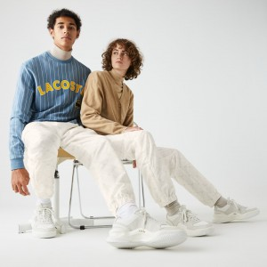 Unisex LIVE Print Tracksuit Pants White in style XH1242-51
