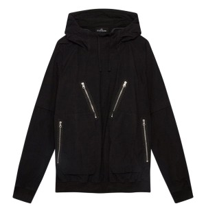Mens STONE ISLAND SHADOW PROJECT SP 2 Front Zip Hdy Sn12 Black V0029 Trending S20S4315