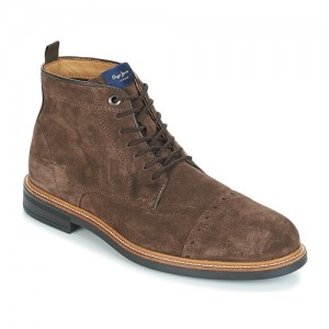 Pepe jeans Axel Brown Shoes Mid boots Men Popular UNWP816
