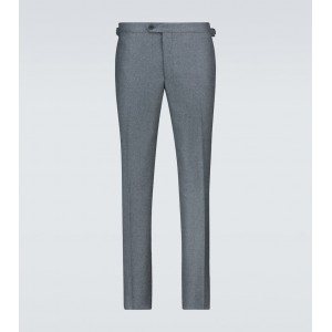 Thom Sweeney Men Formal pants Casual - Flannel flat front pants 3HM461974