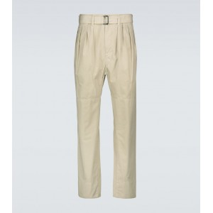 Lemaire Men Casual pants Clearance - Belted cotton pants YRM987557