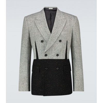 Alexander McQueen Men Suit jackets Selling Well - Donegal tweed double-breasted blazer UPFIB6313