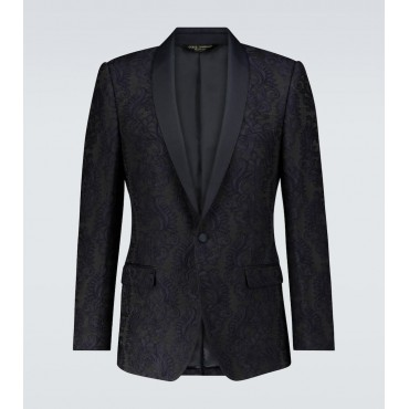Dolce & Gabbana Men Suit jackets Sale - Exclusive to – single-breasted jacquard blazer M68Y34016